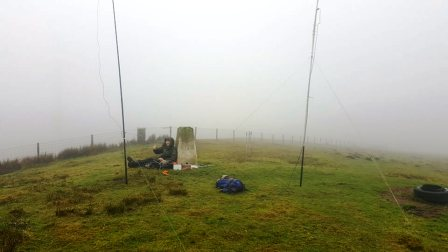 SOTA activating in Mid Wales