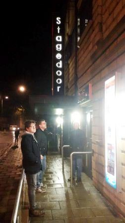 Andy and Andy outside the theatre in Ayr