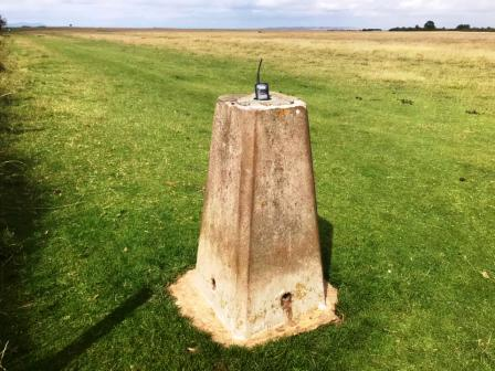 Trig point on Cleeve Hill