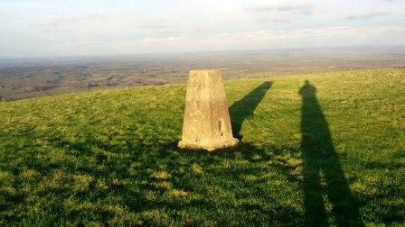 Trig point on Chanctonbury Hill