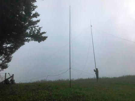 Jimmy setting up the 40m dipole
