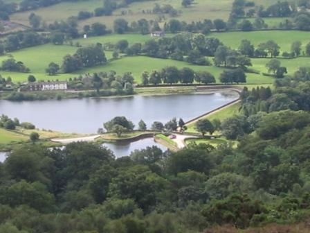Looking down on Bottoms Reservoir