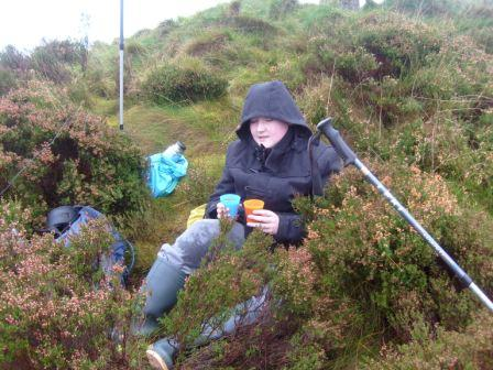 Liam on summit with soup ready to go