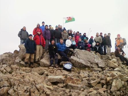 St David's Day party on Cadair Idris