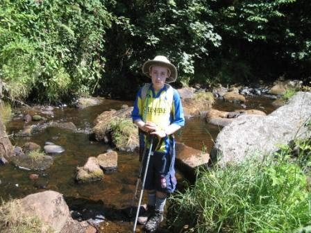 Jimmy cools hit boot soles at Colden Clough