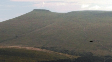 Looking across to Pen y Fan SW-001, with the main path clearly visible