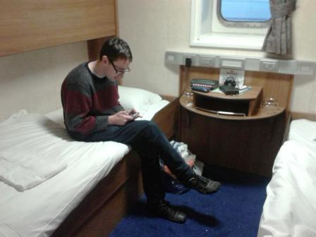 Our cabin on the ferry