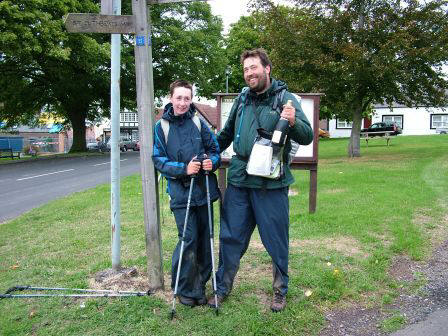 The first - and last Pennine Way fingerpost