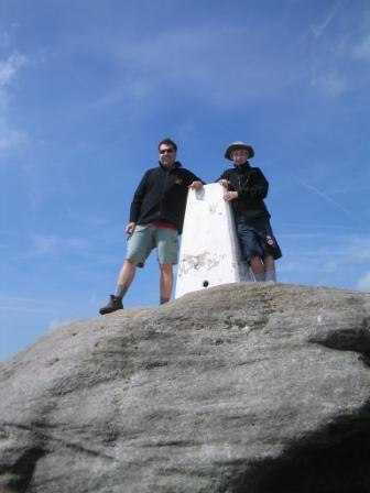 The first summit of the Pennine Way