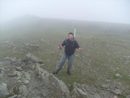 Tom on Fairfield's summit plateau