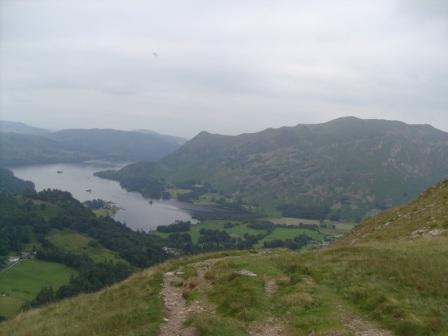 Descending towards Patterdale, with Ullswater ahead
