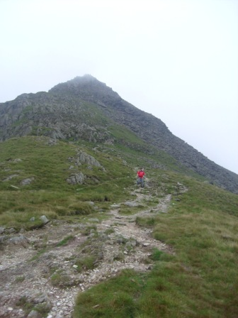 Tom completing the descent of Cofa Pike