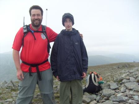 Tom & Jimmy, summit of St Sunday Crag