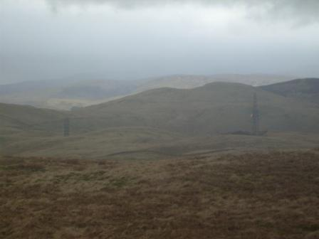 View back to the transmitter stations on the fell