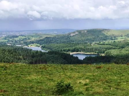 View over the Macclesfield Forest and Ridgegate Reservoir