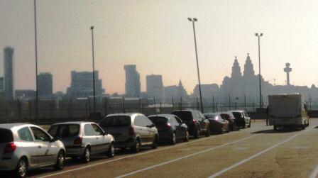 Queueing for the ferry in Liverpool