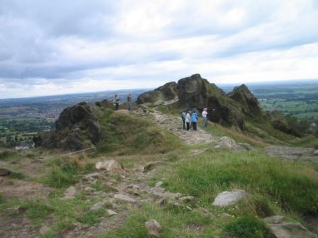 Looking out from Mow Cop