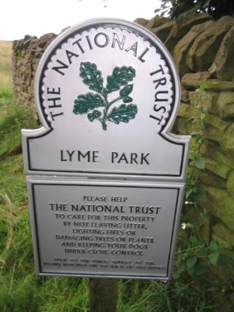 Entry into Lyme Park
