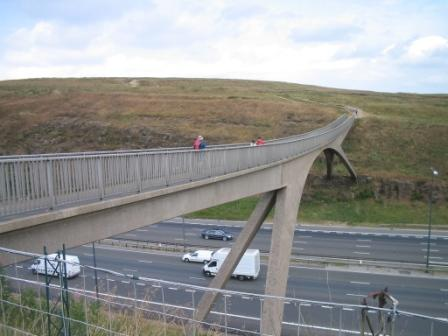 Footbridge over the M62
