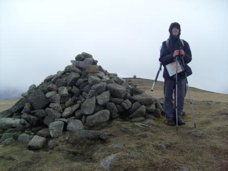 Jimmy at the summit cairn