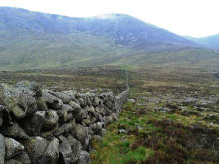 Looking back down the Mourne Wall