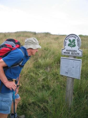 Don reads the details about Marsden Moor