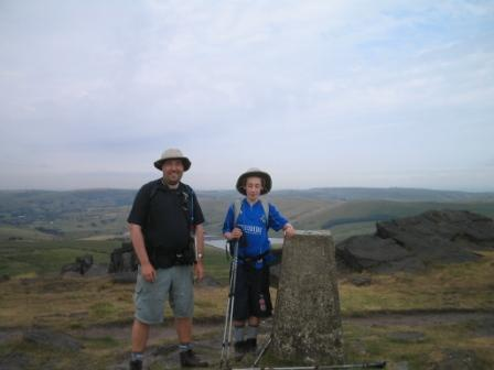 Trig point at Millstone Edge