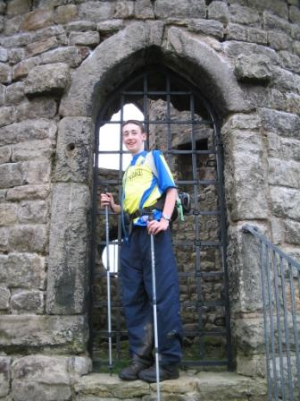 Jimmy at the castle gate