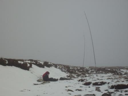 Jimmy & Tom, with 80m antenna