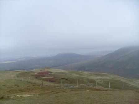 View from the summit, Arenig Fawr is to the right