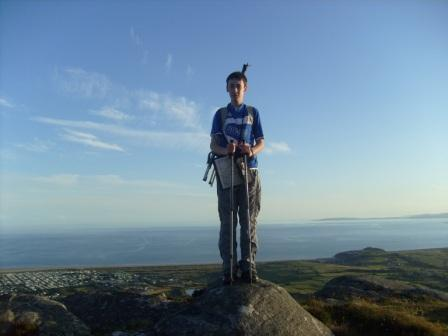 Jimmy with Tremadog Bay behind