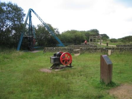 Old quarry machinery at Teggs Nose