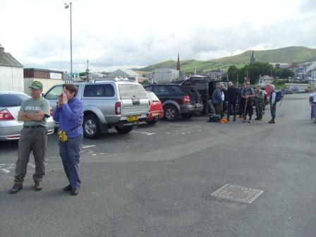 Assembling the group at Girvan harbour