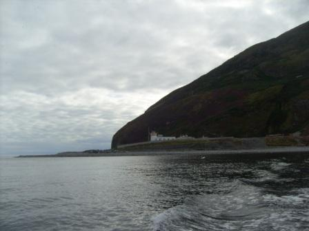Looking back as we sailed away from Ailsa Craig