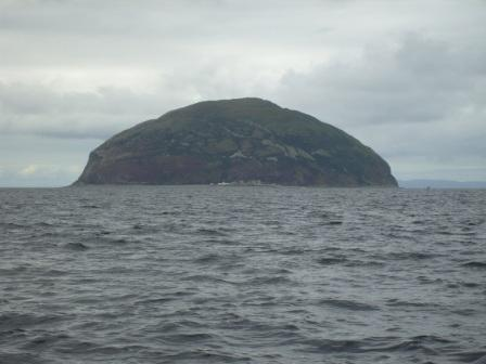 Approaching Ailsa Craig - are we really going to climb that?