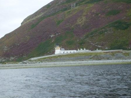 Nearly there at the island, good view of the castle and the lighthouse
