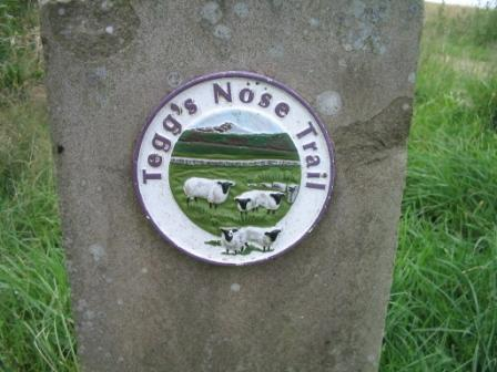 Teggs Nose Trail sign