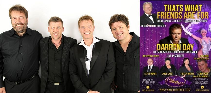 Sunday nights with Andy Mudd and Darren Day at Viva Blackpool
