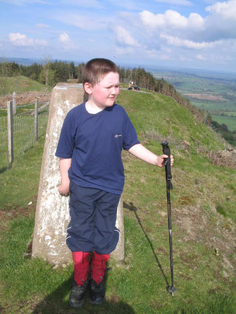 Liam enjoys the sunshine on Allt y Main