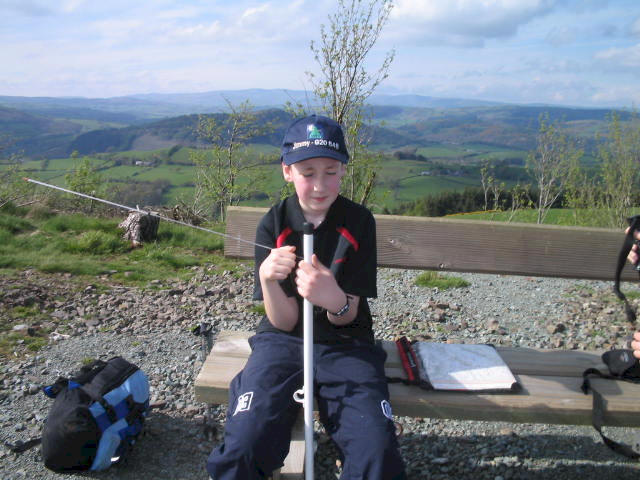 Jimmy on the summit of Allt y Main